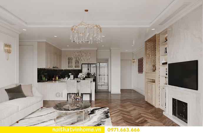 thiết kế nội thất chung cư DCapitale trọn gói nhà anh Lượng 2