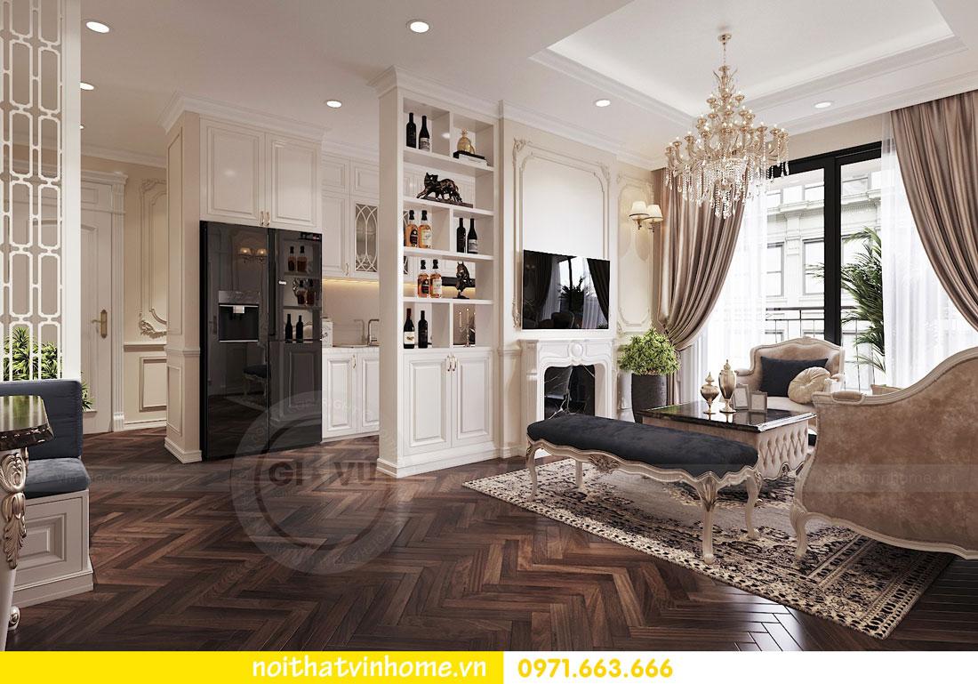 thiết kế nội thất chung cư tân cổ điển nhà anh Kiên 02