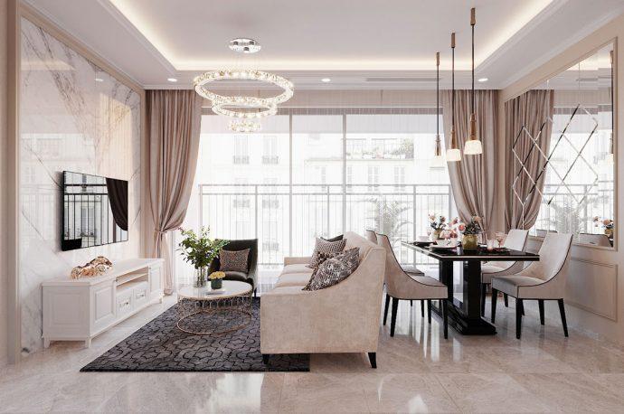 thiết kế Vinhomes DCapitale tòa C2 căn 03 nhà anh Bình