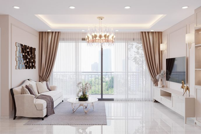 xu hướng thiết kế nội thất chung cư năm 2020