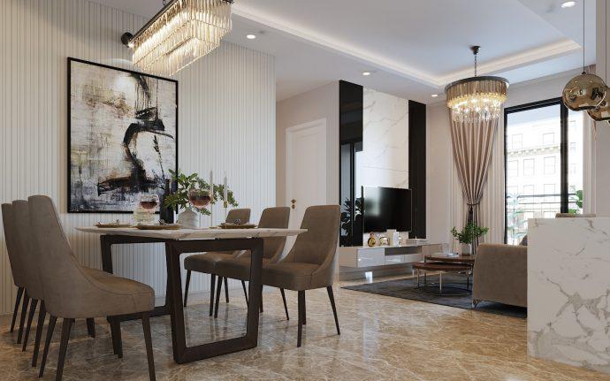 cách thiết kế nội thất căn hộ 90m2 với 3 phòng ngủ đẹp hiện đại