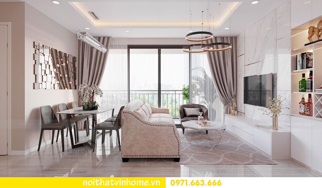 thiết kế nội thất căn hộ 3 ngủ đẹp hiện đại tiết kiệm chi phí 03