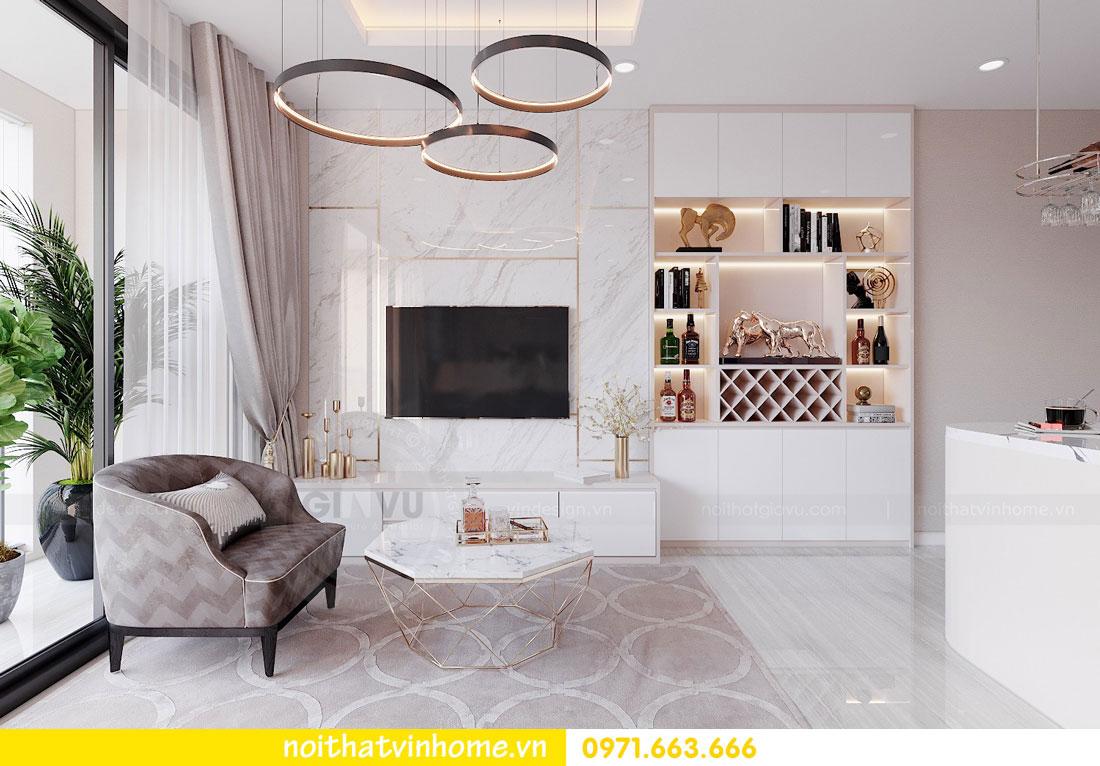 thiết kế nội thất căn hộ 3 ngủ đẹp hiện đại tiết kiệm chi phí 04