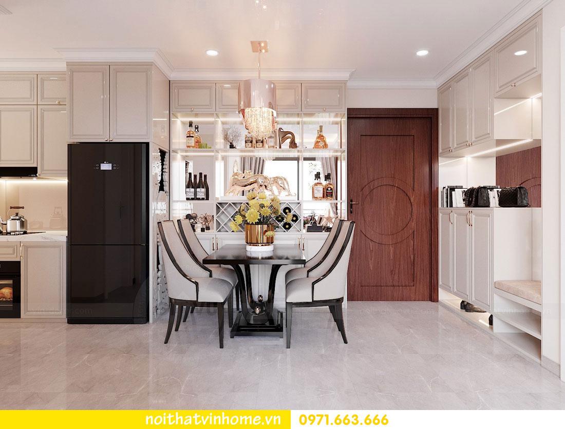 thiết kế nội thất căn hộ 60m2 với 2 phòng ngủ nhẹ nhàng hiện đại 03