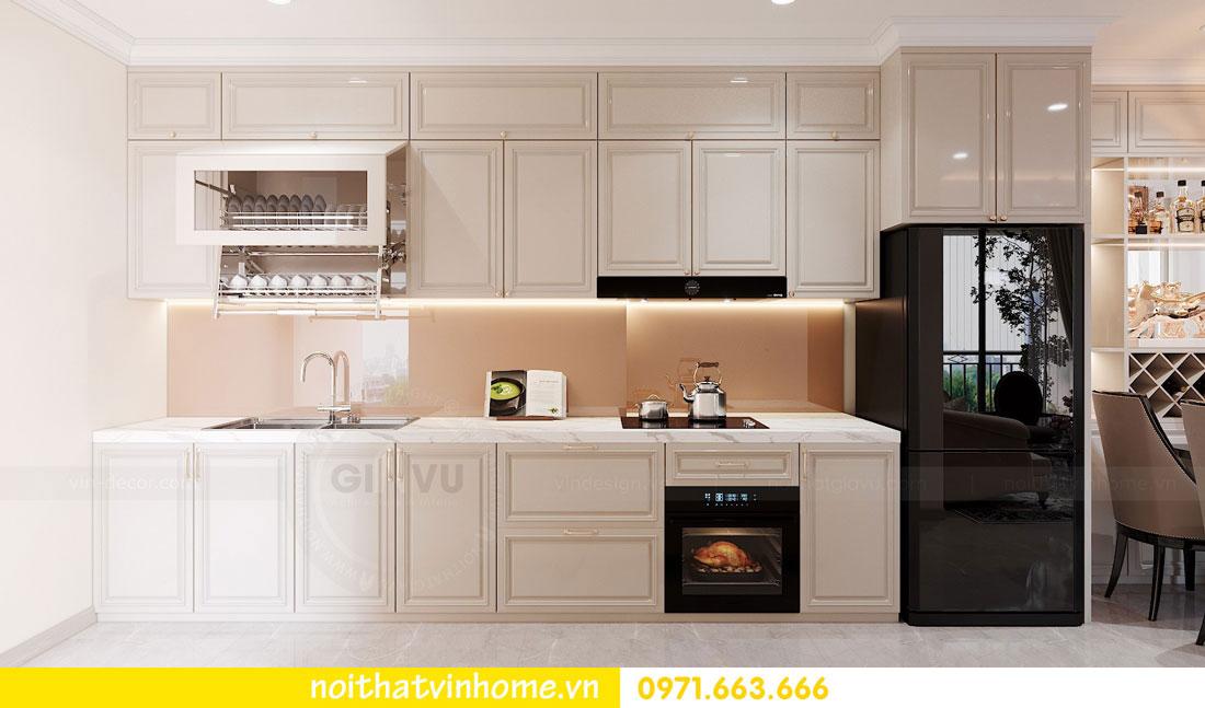 thiết kế nội thất căn hộ 60m2 với 2 phòng ngủ nhẹ nhàng hiện đại 04