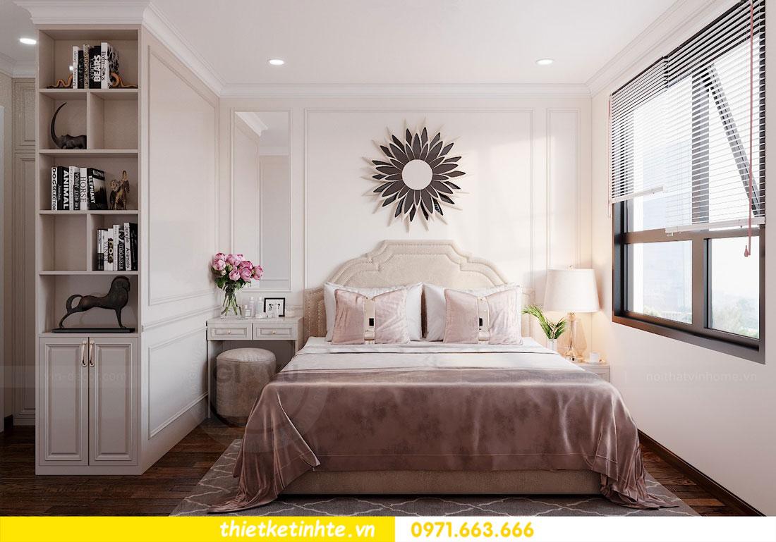 thiết kế nội thất căn hộ 60m2 với 2 phòng ngủ nhẹ nhàng hiện đại 05