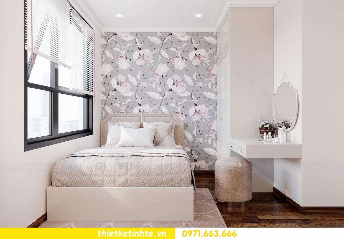 thiết kế nội thất căn hộ 60m2 với 2 phòng ngủ nhẹ nhàng hiện đại 08