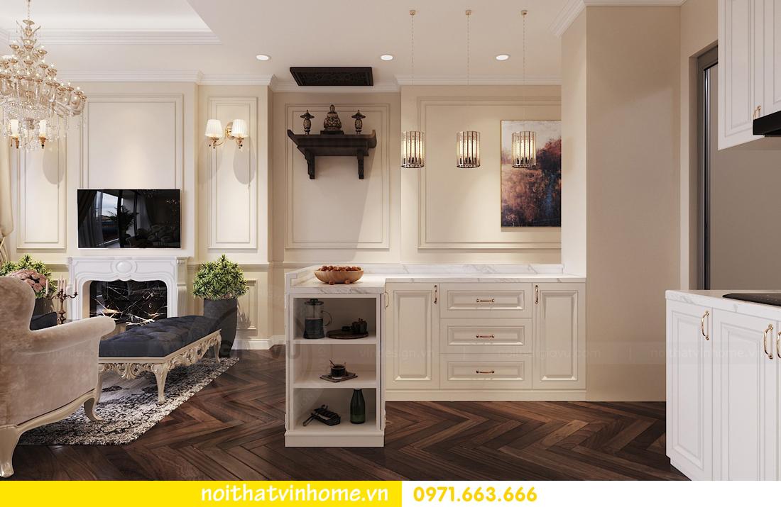 thiết kế nội thất chung cư DCapitale 3 phòng ngủ nhà chị Hằng 02