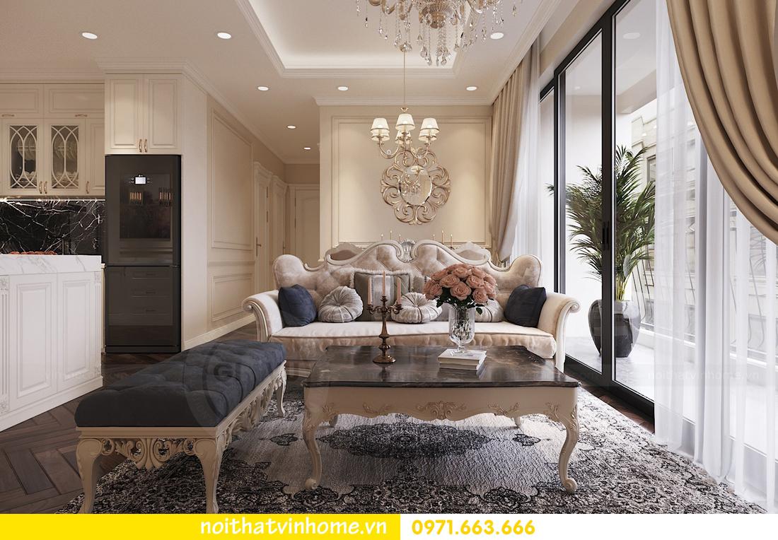 thiết kế nội thất chung cư DCapitale 3 phòng ngủ nhà chị Hằng 03