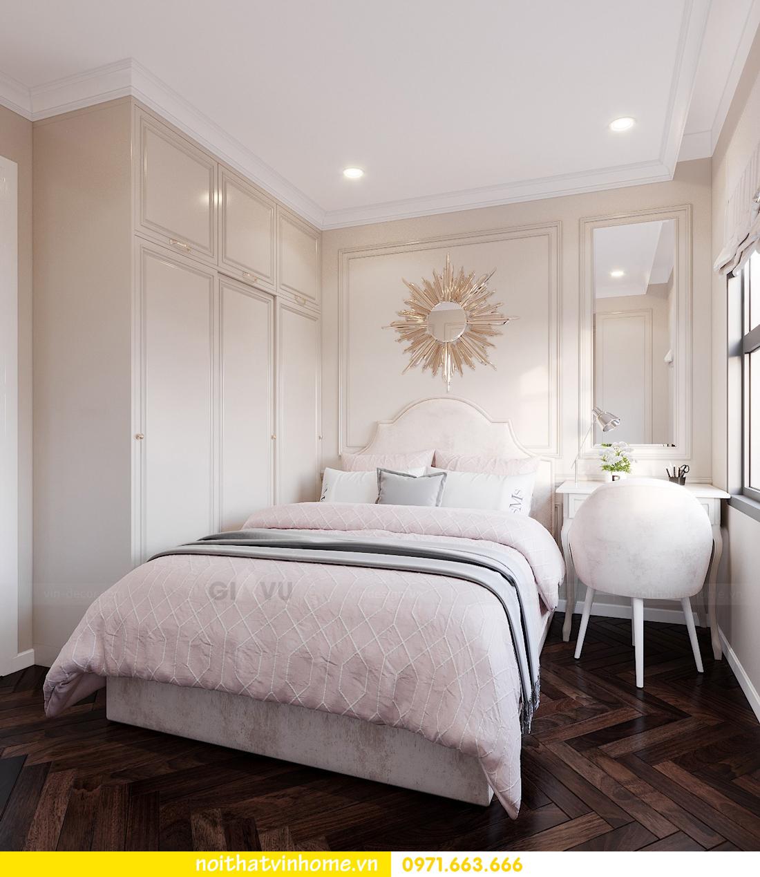thiết kế nội thất chung cư DCapitale 3 phòng ngủ nhà chị Hằng 09