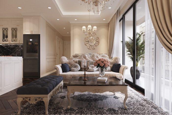 thiết kế nội thất chung cư DCapitale 3 phòng ngủ nhà chị Hằng