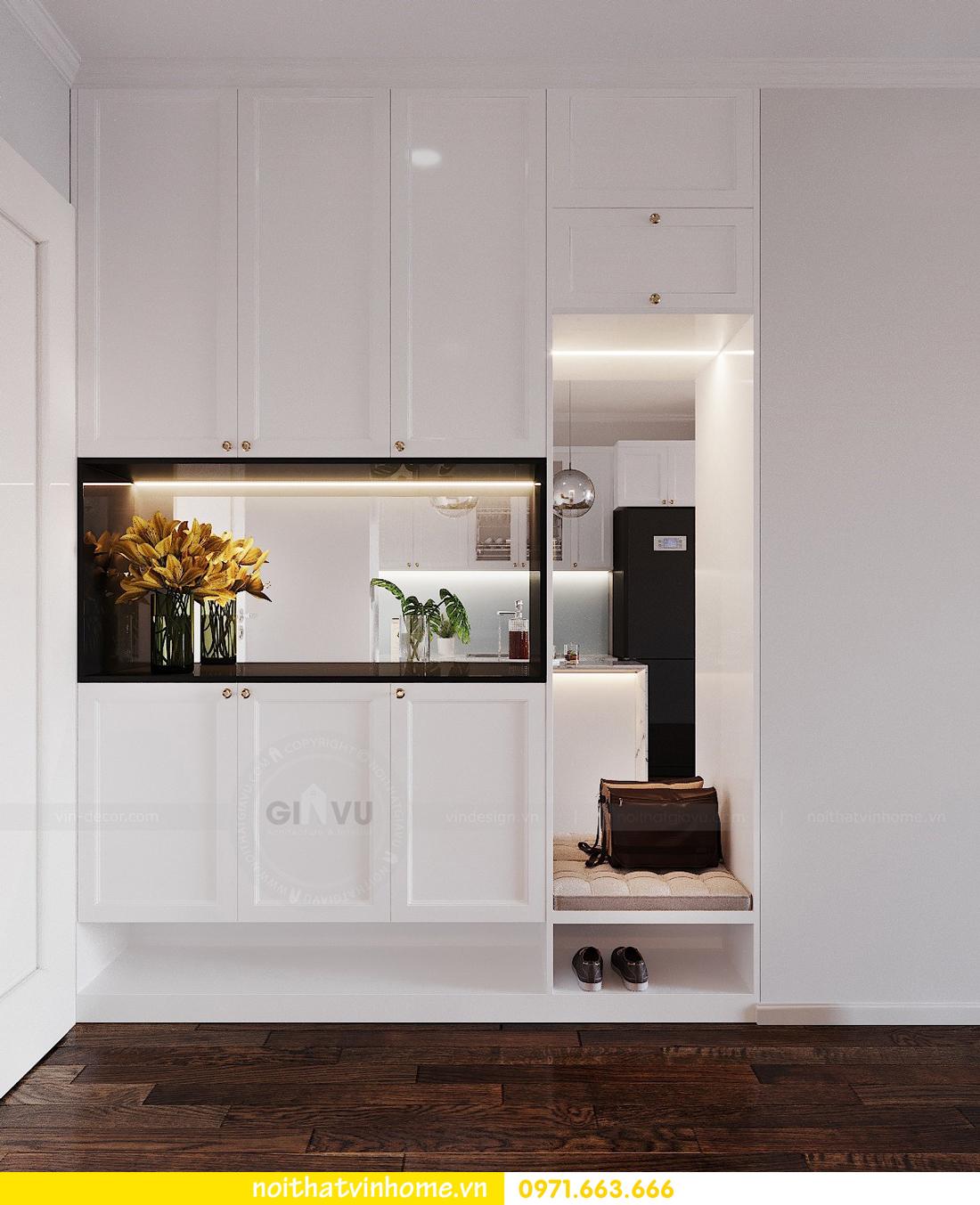 thiết kế nội thất chung cư Sunshine Riverside căn hộ 3 phòng ngủ 1
