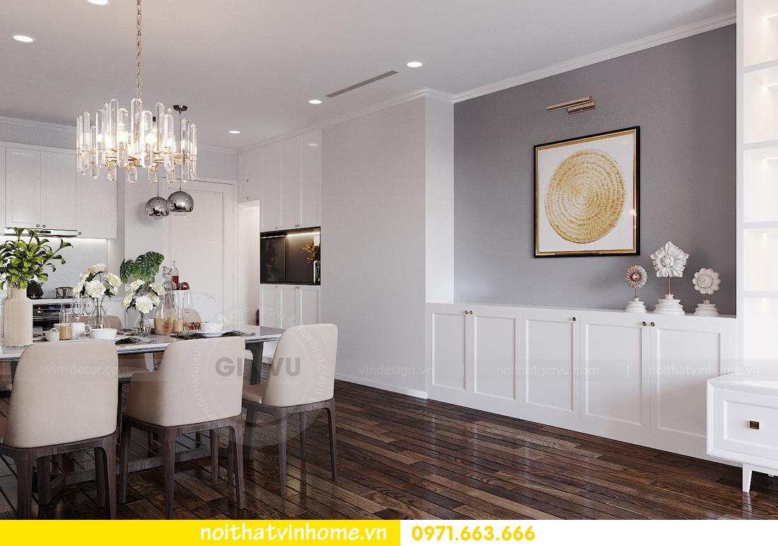 thiết kế nội thất chung cư Sunshine Riverside căn hộ 3 phòng ngủ 2