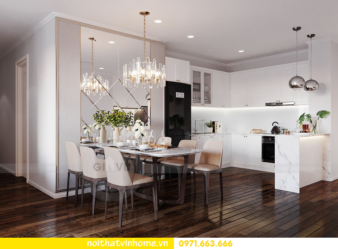 thiết kế nội thất chung cư Sunshine Riverside căn hộ 3 phòng ngủ 3