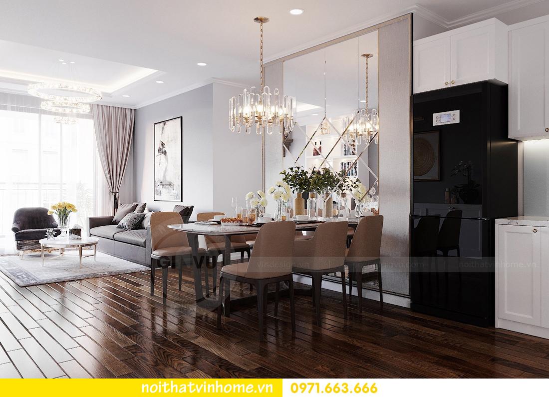 thiết kế nội thất chung cư Sunshine Riverside căn hộ 3 phòng ngủ 4