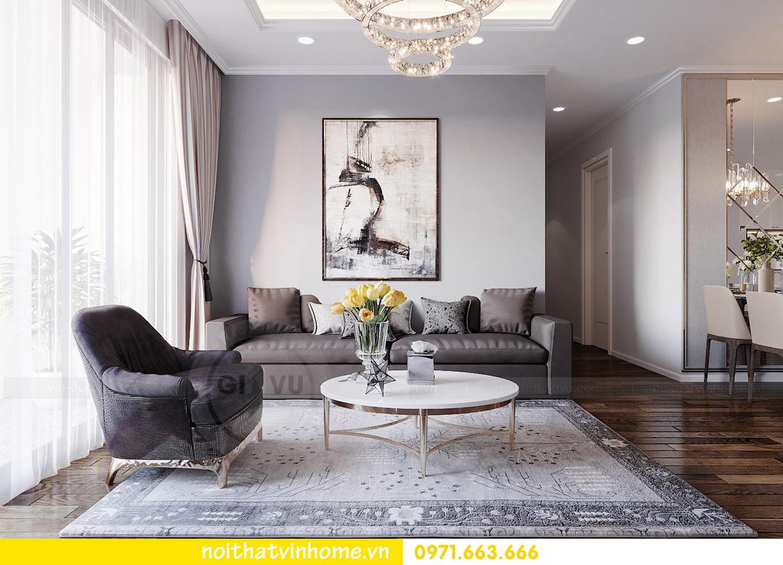 thiết kế nội thất chung cư Sunshine Riverside căn hộ 3 phòng ngủ 6