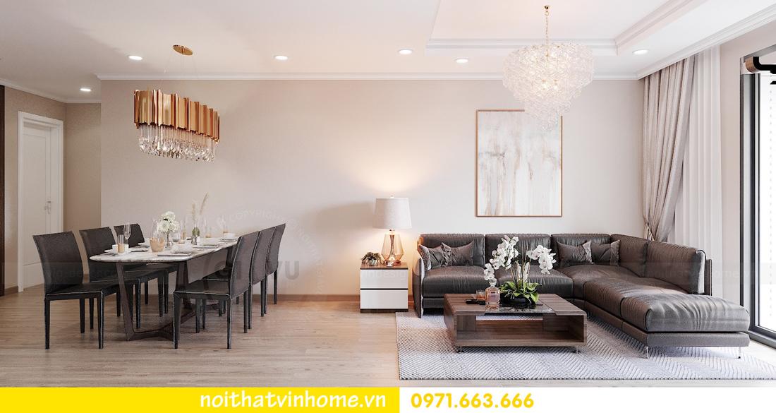 thiết kế nội thất tại Vinhomes Park Hill căn hộ 3 phòng ngủ 02