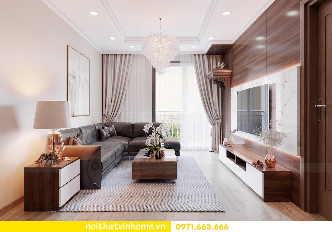 thiết kế nội thất tại Vinhomes Park Hill căn hộ 3 phòng ngủ 03