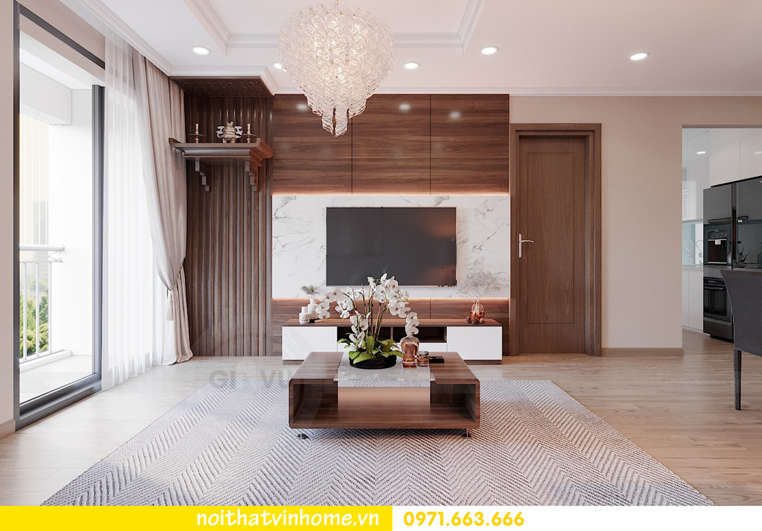 thiết kế nội thất tại Vinhomes Park Hill căn hộ 3 phòng ngủ 04