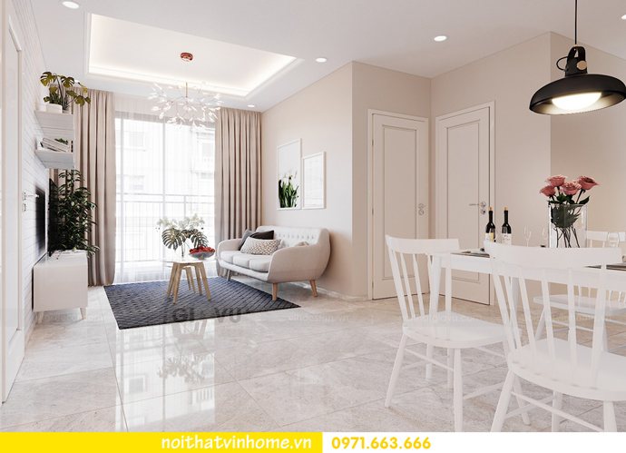thiết kế nội thất theo phong cách Bắc Âu tại chung cư DCapitale 2