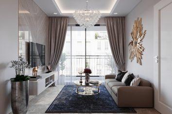 thiết kế nội thất Vinhomes DCapitale tòa C2 căn hộ 07