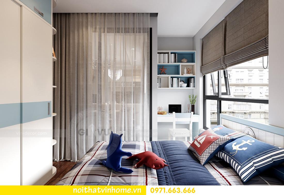 thiết kế nội thất căn hộ Vinhomes West Point 3 phòng ngủ 11