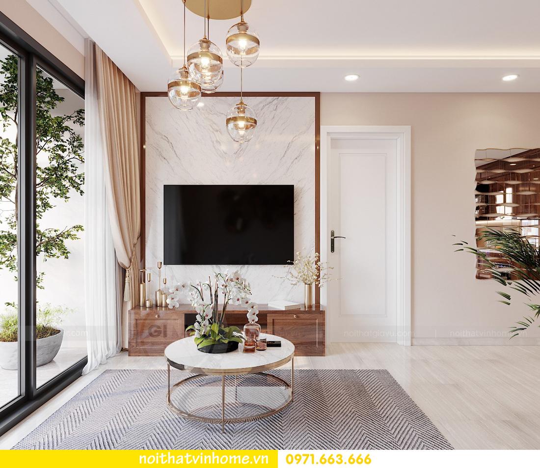 thiết kế nội thất chung cư Vinhomes Ocean Park căn hộ 2 phòng ngủ 3