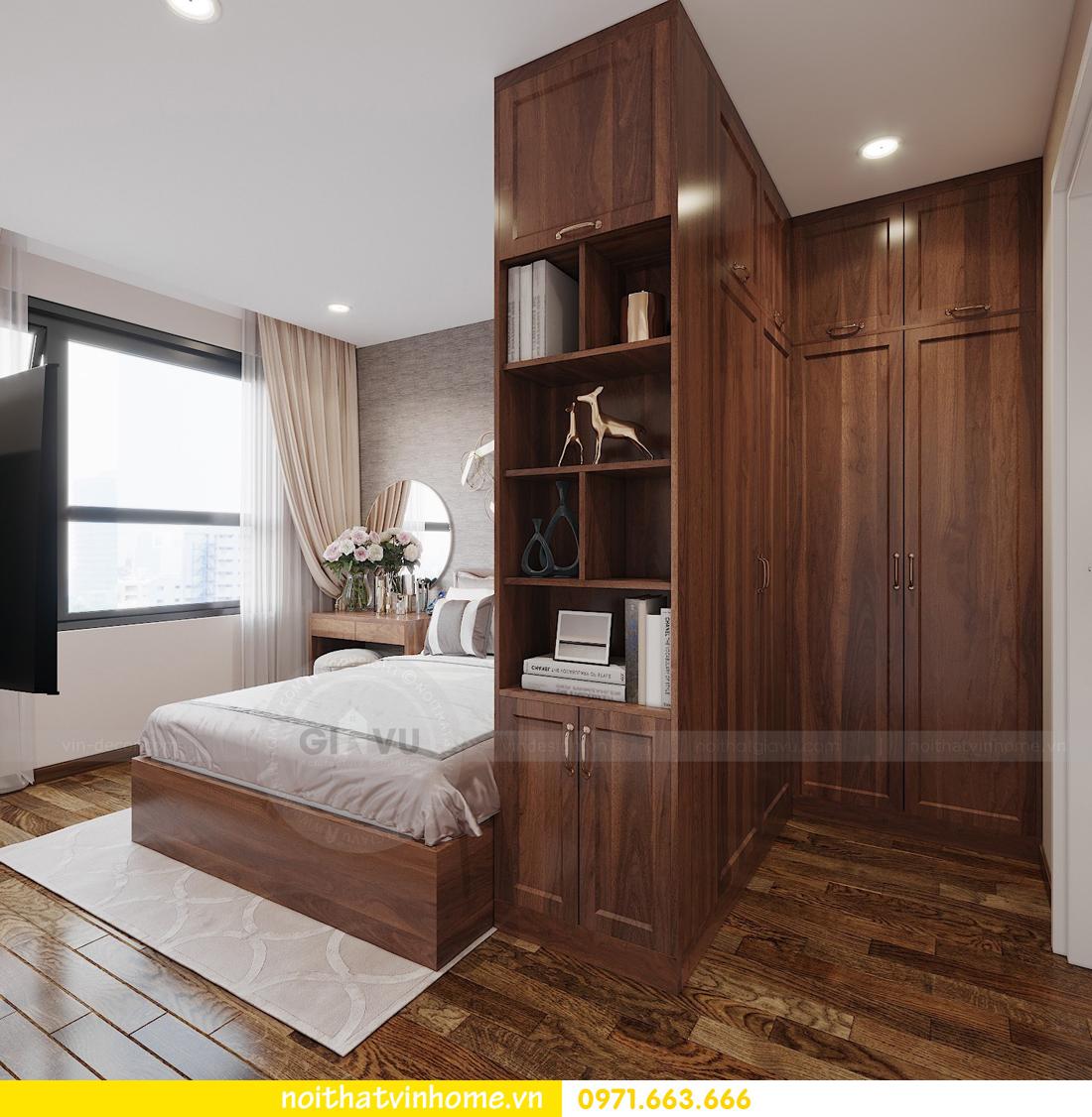 thiết kế nội thất chung cư Vinhomes Ocean Park căn hộ 2 phòng ngủ 4