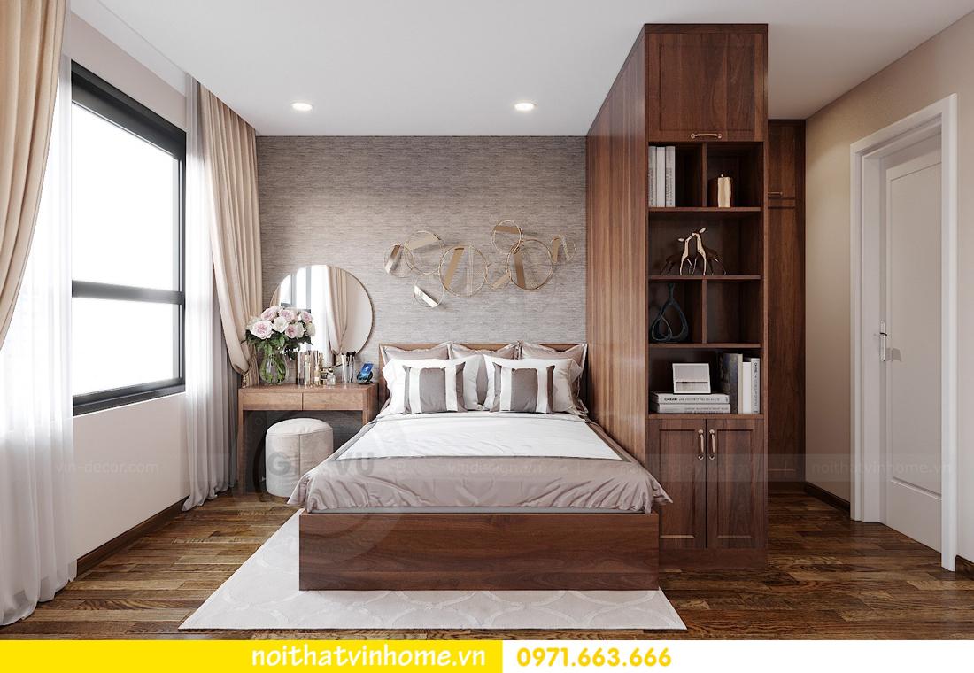 thiết kế nội thất chung cư Vinhomes Ocean Park căn hộ 2 phòng ngủ 5