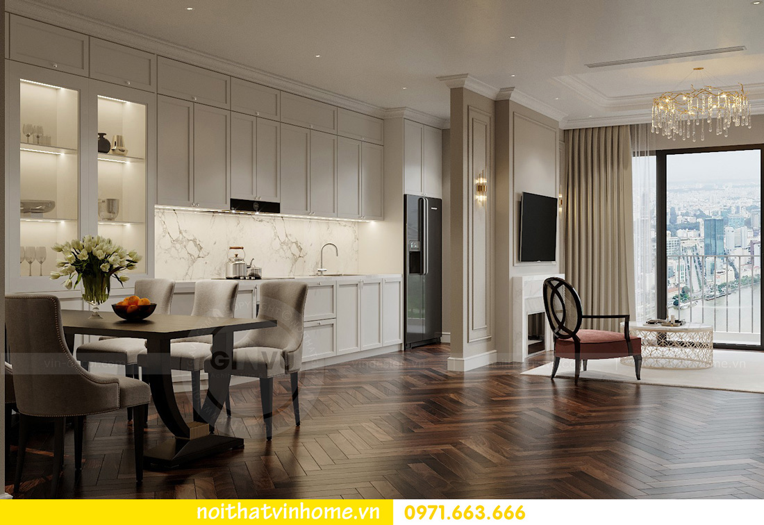thiết kế nội thất chung cư Vinhomes West Point tòa w3 căn 05A anh Hà 02