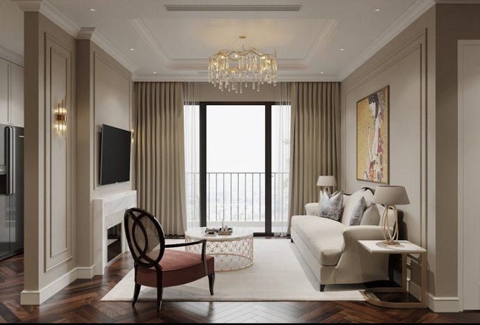 thiết kế nội thất chung cư Vinhomes West Point tòa w3 căn 05A