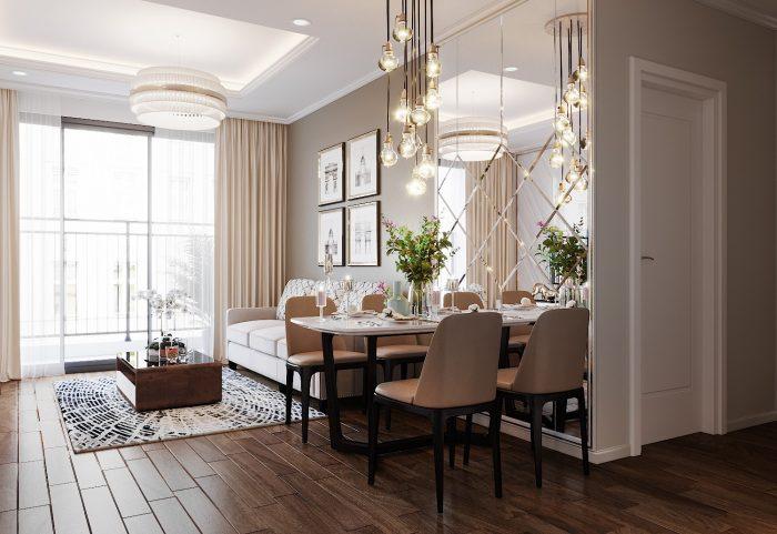 thiết kế nội thất căn hộ chung cư West Point tòa W3 căn 08