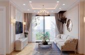 thiết kế thi công nội thất chung cư Smart City căn hộ 3 phòng ngủ