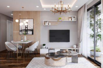 mẫu thiết kế nội thất chung cư West Point tòa W2 căn 11A