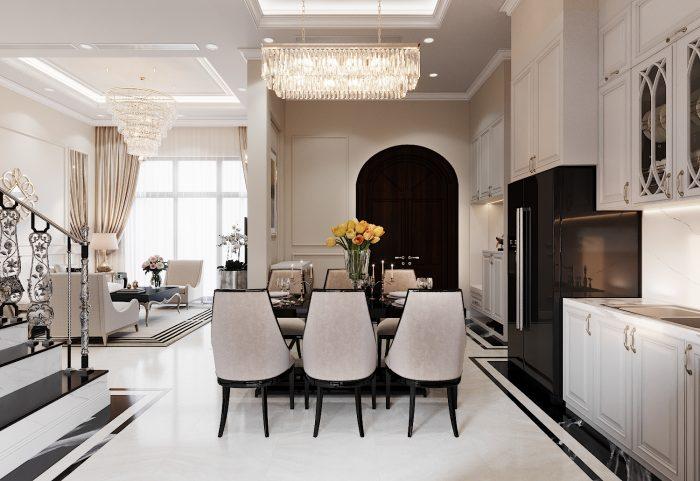 thiết kế thi công nội thất biệt thự liền kề Vinhomes OCean Park