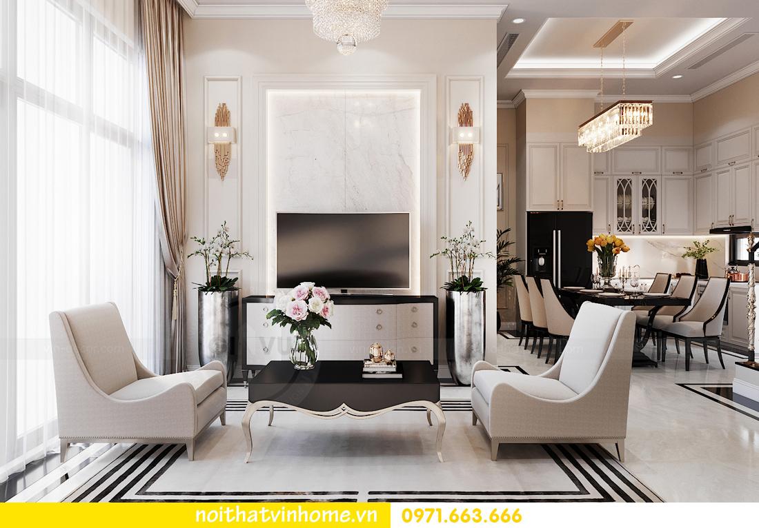 thiết kế thi công nội thất biệt thự liền kề Vinhomes OCean Park 4