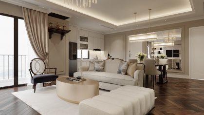 thiết kế nội thất chung cư 100m2 tại Imperia Sky Garden