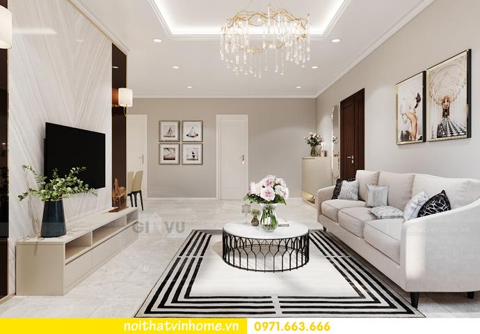 thiết kế nội thất chung cư OCean Park căn 3 phòng ngủ nhỏ 2