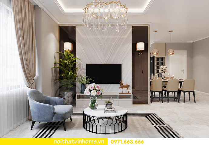 thiết kế nội thất chung cư OCean Park căn 3 phòng ngủ nhỏ 4