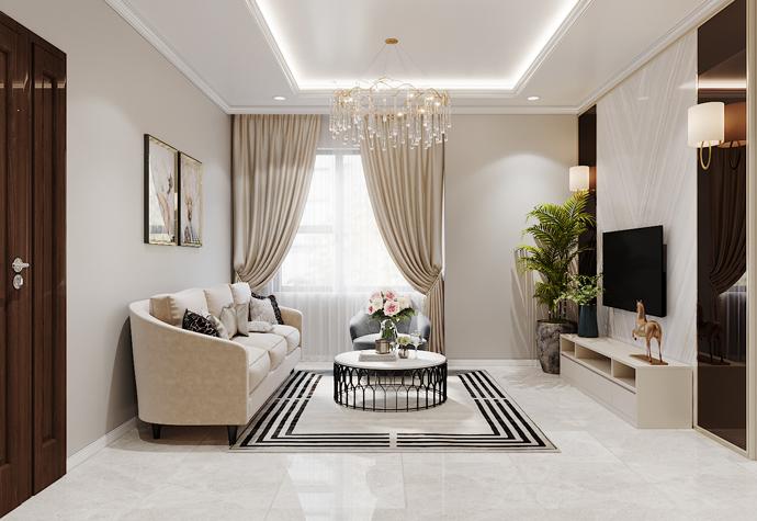 thiết kế nội thất chung cư OCean Park căn 3 phòng ngủ nhỏ