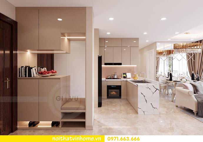 thiết kế nội thất căn hộ 3 ngủ tại Vinhomes Smart City 1