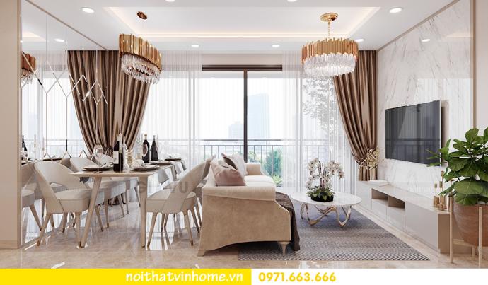 thiết kế nội thất căn hộ 3 ngủ tại Vinhomes Smart City 3