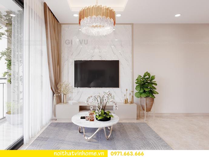thiết kế nội thất căn hộ 3 ngủ tại Vinhomes Smart City 4