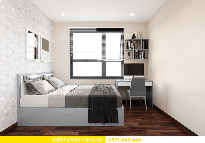 thiết kế nội thất căn hộ 3 ngủ tại Vinhomes Smart City 8