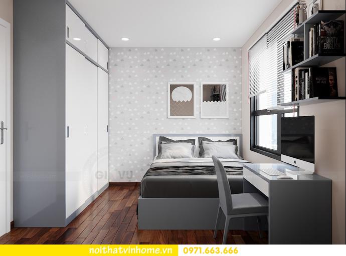 thiết kế nội thất căn hộ 3 ngủ tại Vinhomes Smart City 9
