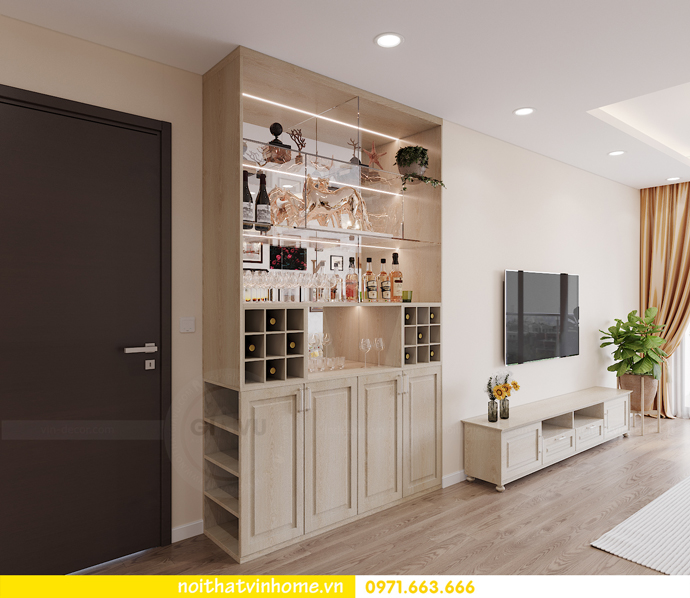 thiết kế nội thất căn hộ Smart City đơn giản mà tinh tế 1
