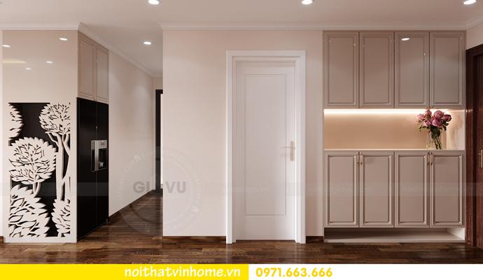 thiết kế nội thất chung cư Smart City căn 2 ngủ hiện đại 1