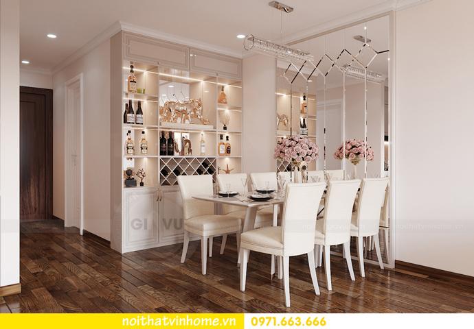 thiết kế nội thất chung cư Smart City căn 2 ngủ hiện đại 3