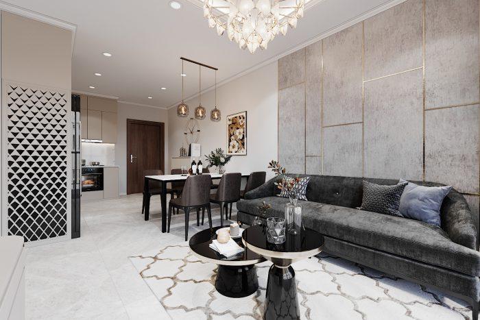 chung cư Smart City mẫu thiết kế căn hộ 3 phòng ngủ đẹp