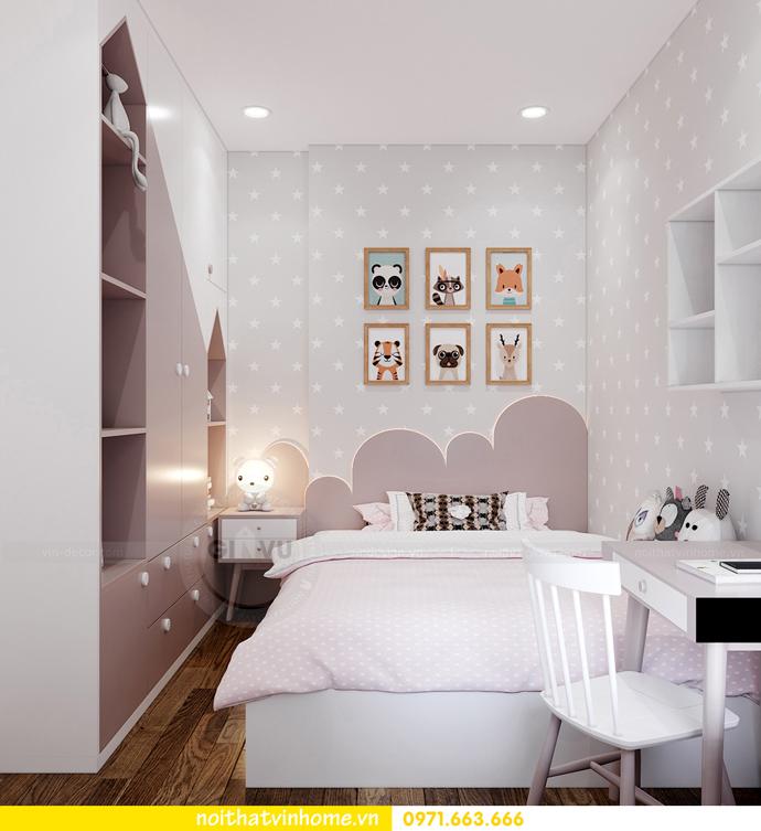 thiết kế nội thất Vinhomes Smart City tòa S202 căn hộ 10A 10